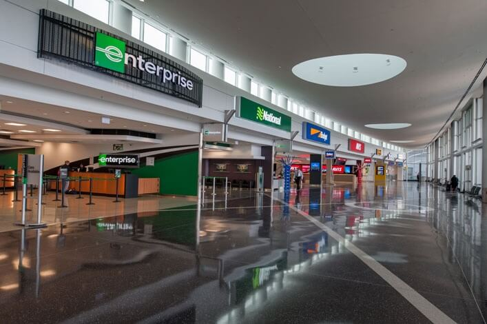 Enterprise rental car at denver international airport